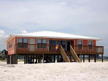 Back exterior at Isle Call - Gulf Shores Beach House for Rent